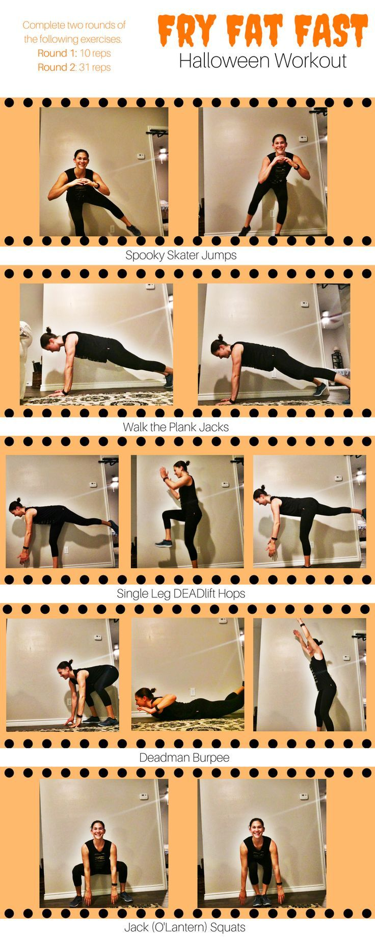 My treat for you is a bodyweight halloween workout you can do absolutely anywhere. Bodyweight workouts are possibly the most effective way to improve your relative strength while also getting a cardio burn. And I'm all about improving that relative strength! That being said, the other key benefit of incorporating bodyweight training into your routine, especially if you would otherwise skip a workout, is that you can get your sweat on anywhere.