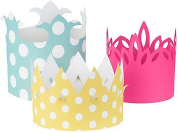 Royal Crowns Kit.  Should be fairly easy to make from scrapbook paper.: Kids Parties, Birthday Parties, Royals Crowns, Crowns Kits, Parties Ideas, Paper Sources, Photos Props, Princesses Parties, Paper Crowns