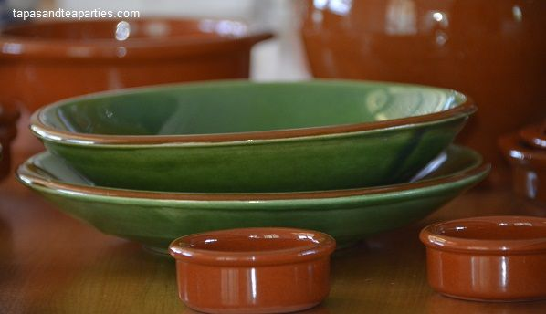 Our Green & Terracotta tableware imported from Spain.