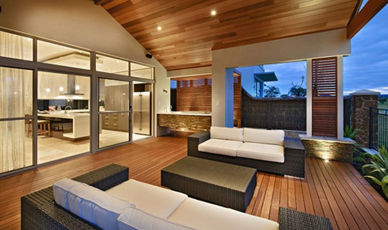 Outdoor Living Space: good concept, I like this. After dinner wine  chillax area.
