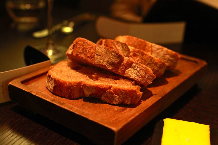 Rustic baguette. At Diner by Huston Blumenthal - London