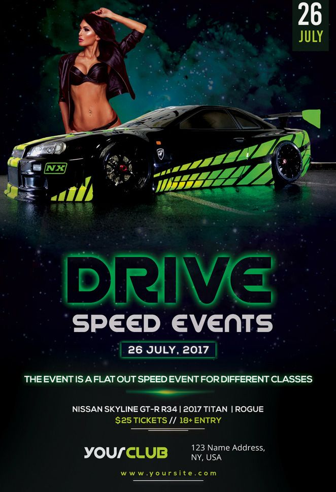 Speed Car Racing Event Free Flyer Template - http://freepsdflyer.com/speed-car-racing-event-free-flyer-template/ Enjoy downloading the Speed Car Racing Event Free Flyer Template created by Stockpsd!   #CarRacing, #CarShow, #Cars, #Club, #Dj, #Drive, #Electro, #Fast, #House, #Nightclub, #Party, #Race, #Racing