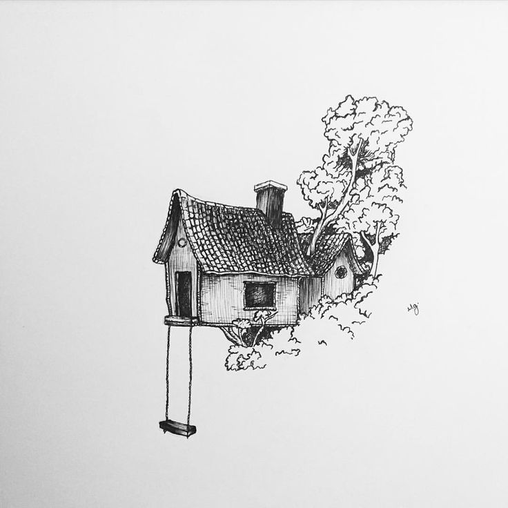 Those who don't believe in magic will never find it - Roald Dahl  A more recent drawing of a magical tree house.