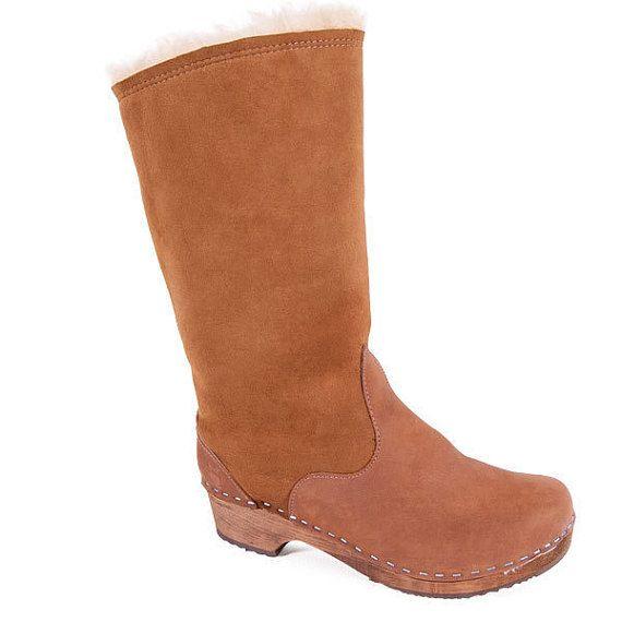 Clog in shearling stivali per le donne / Handmade di Sandgrens
