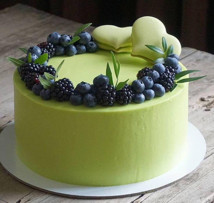 Maybe Strawberries, macaroons,  white cake with Italian cream filling