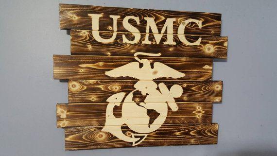 United States Marine Corps Marine Corps US by CarolinaPalletDesign