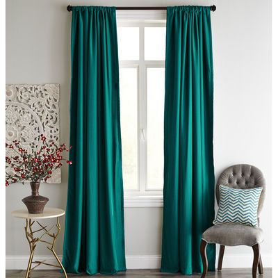 Roulette Blackout Curtain   Teal
