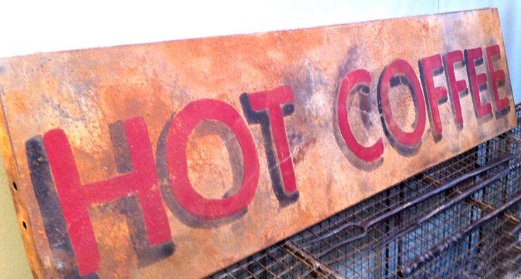 Vintage Metal Coffee Sign Wall Decor Pinterest