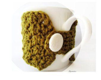 Lilac coffee cup warmer crochet cup cozy lilac mug cozy