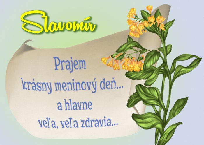 Slavomír Prajem krásny meninový deň... a hlavne veľa, veľa zdravia...