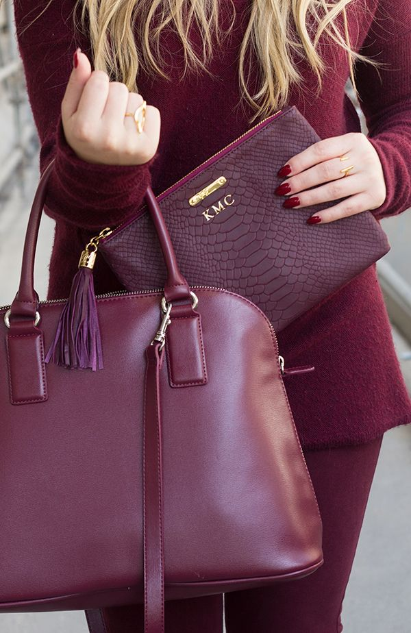 Monochromatic Burgundy #DressingwithBarbie: