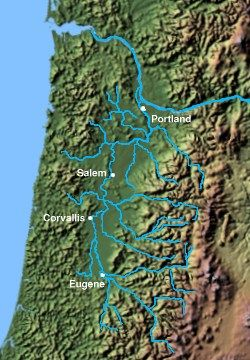 Willamette Valley, Oregon - Wikipedia, the free encyclopedia. The Corvallis area includes Albany and Lebanon. Springfield is near Eugene.