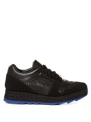 Macy lace-panel faux-leather trainers   Stella McCartney   MATCHESFASHION.COM US