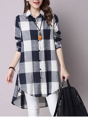 GET $50 NOW   Join RoseGal: Get YOUR $50 NOW!http://www.rosegal.com/blouses/asymmetrical-button-down-pocket-design-plaid-679341.html?seid=6613980rg679341