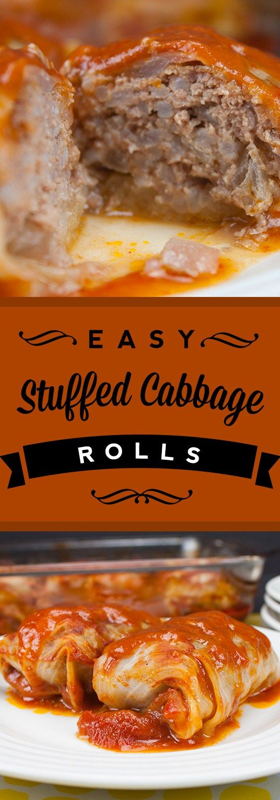Stuffed Cabbage Rolls are a great comfort food recipe to have in your rotation. Meaty, saucy goodness in a neat little package.