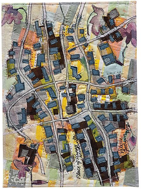 Art Quilt Map.They seem to be an emerging trend especially with people who would not normally be interested in quilting.