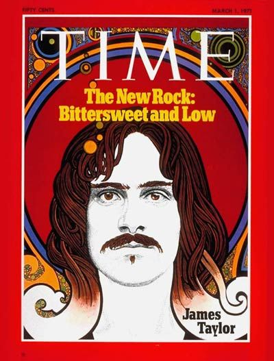 James Taylor on the cover of the Time magazine