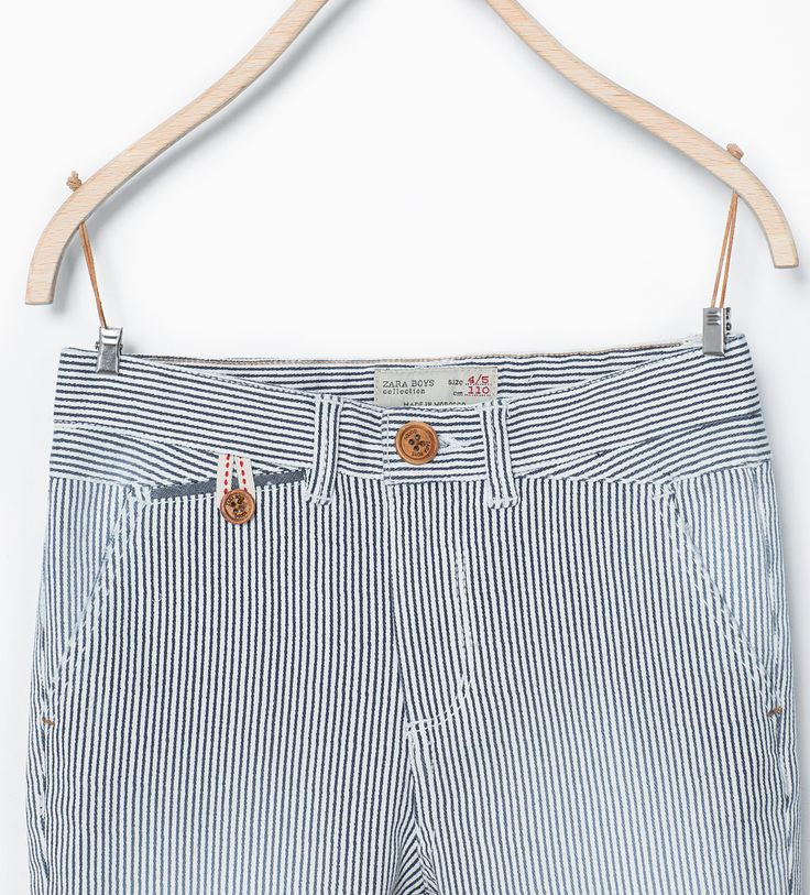 Image 2 of Striped chinos from Zara