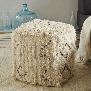 Moroccan Wedding Pouf - Eclectic - Ottomans And Cubes - West Elm