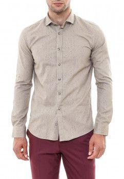 Рубашка Wessi G-1145-505.M Бежево-серая