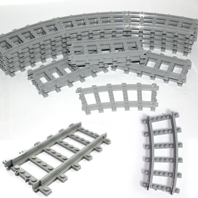 New 16PCS/lot Train Streight and Curve Track Building Brick block toys Compatible with All brand