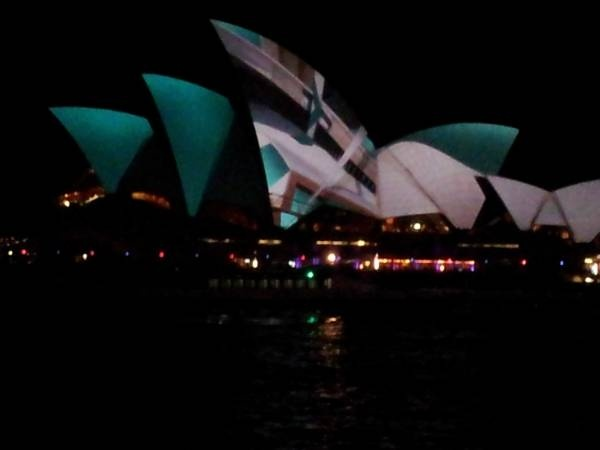 Laser display on the Sydney Opera House as part of the Vivid Sydney Festival, May 2012. #sydney