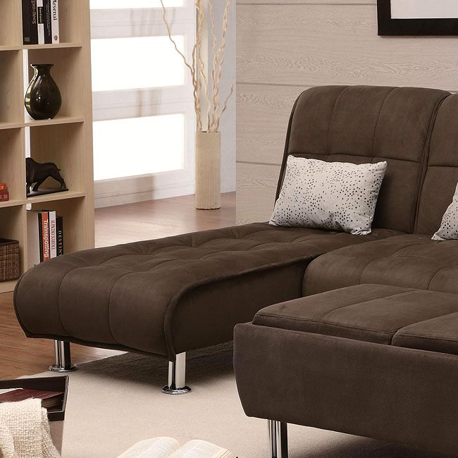 $229 plus free shipping - Completely casual and absurdly comfortable, this modern styled Brown Microfiber Sofa Bed Collection by Coaster Furniture will introduce your home to the importance of casual comfort and easy convenience. Designed with plush padded cushions that feature a pillow-top look, this transitional sleeper sofa collection casts an inviting aura that is complete with relaxed seam details and silver-colored cylinder feet.