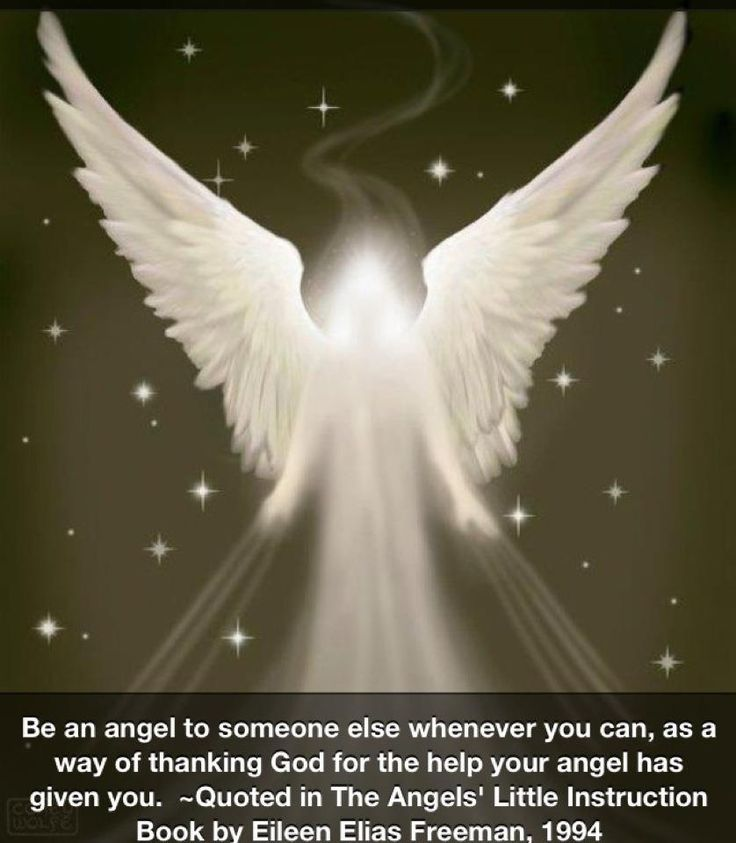 Be an angel everyday, even a simple smile or a kind word, compliment can be a Blessing to someone