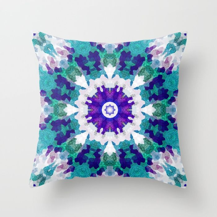 Buy MANDALA NO. 1 #society6 Throw Pillow by sboar_a. Worldwide shipping available at Society6.com. Just one of millions of high quality products available.