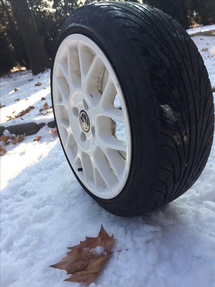 Vw polo 6n2 wheel white