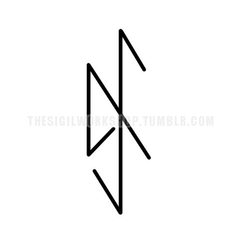 """I commit without fear""The top image is the sigil I have made with the statement of intent. The bottom image is a bind rune, which is made by combining many runes together with similar purposes to..."