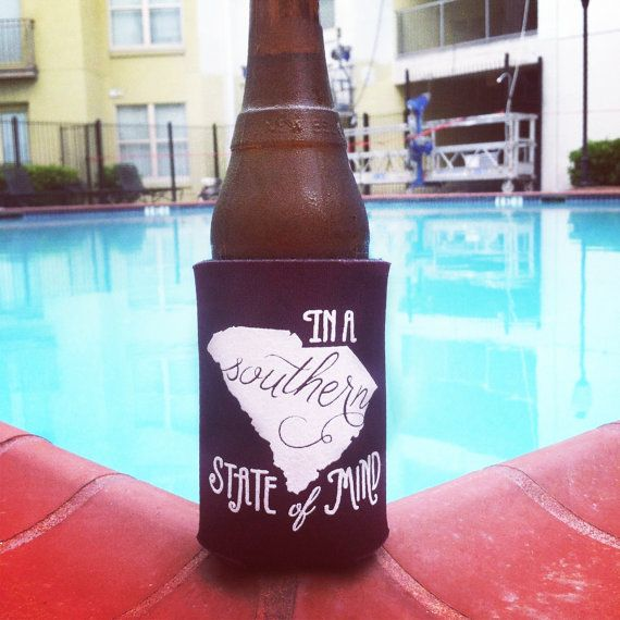 South Carolina Southern State of Mind Koozie by ThePinkHousePress, $5.00