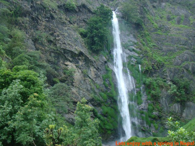 The most beautiful spring in annapurna circuit trek in Nepal. come and enjoy with nature.