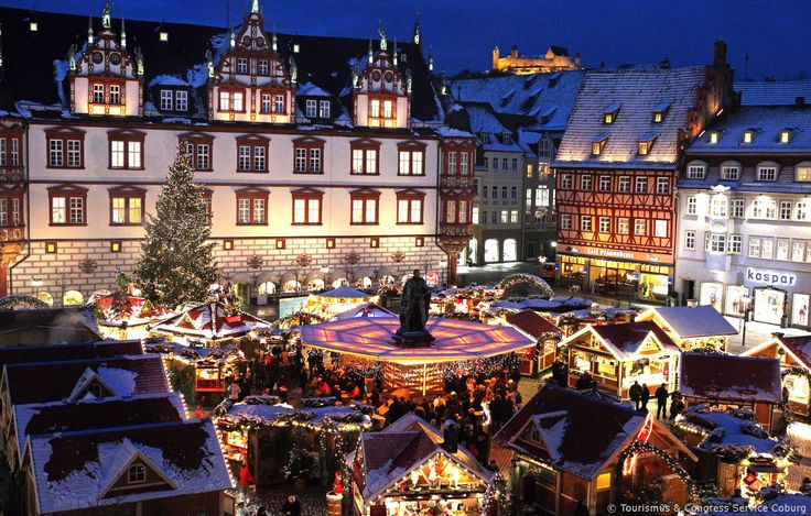The romantic Christmas village of Coburg. #joingermantradition Enter the #InspiredBy Pinterest Contest for your chance to win a trip to Germany!