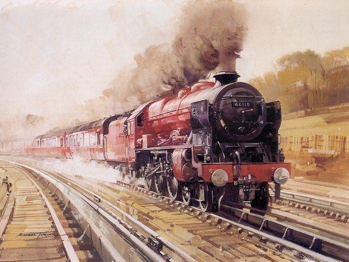 Картинки с железной дорогой на открытки