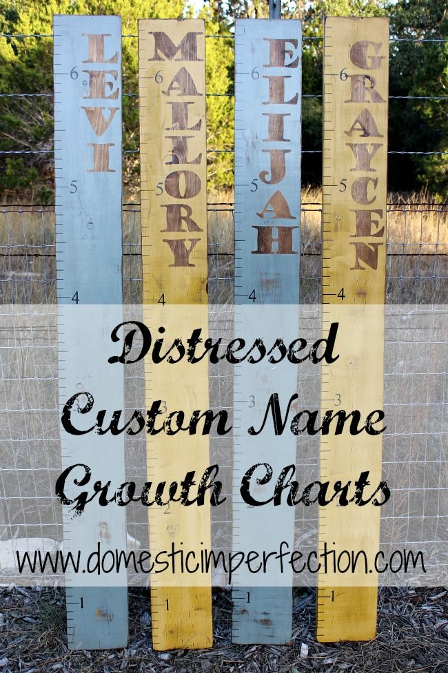 Rustic Growth Charts