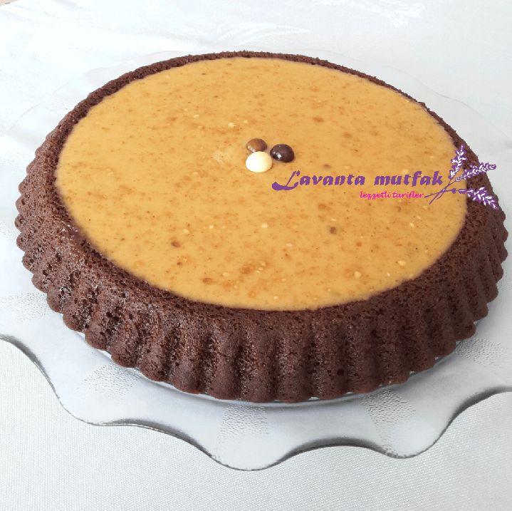 Fıstık Ezmeli Kakaolu Tart Kek