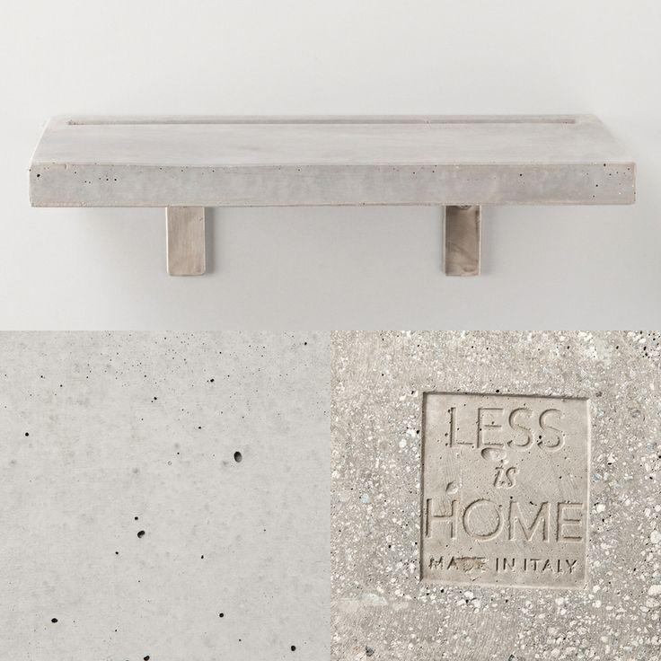 Vega - concrete shelf | grey details by LESS is HOME