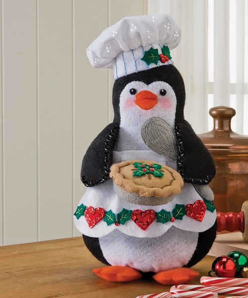 Invite this bitty, blizzard-dwelling baker into the kitchen or holiday décor by crafting it out of the materials in this kit! The whimsy of this little character adds an adorable handcrafted touch to seasonal displays.Includes felt, sequins, beads, embroidery floss, needles and instructionsFeltSpot cleanMade in the USA