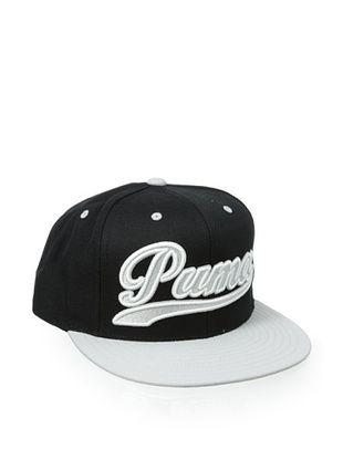 37% OFF PUMA Men's Script City Snapback Hat (Black/Grey)