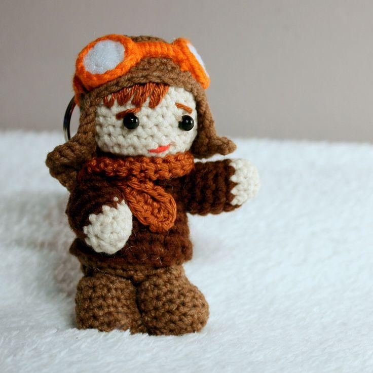 Amigurumi Pilot #amigurumi #amigurumis #pilot #crochet #keychain #szydełkowy #rękodzieło #little #man