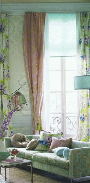 Home : Ten Rooms We Want To Live In  La Maison Boheme features this lovely pastel room