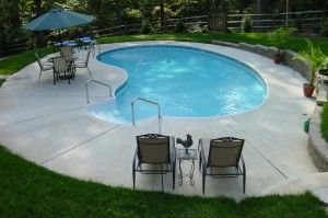 "Kidney In Ground Pool Kits It's what your backyard has  ""Bean"" missing. Swim Time!! http://www.arthurspools.com/2013/02/15/kidney-in-ground-pool-kits/"