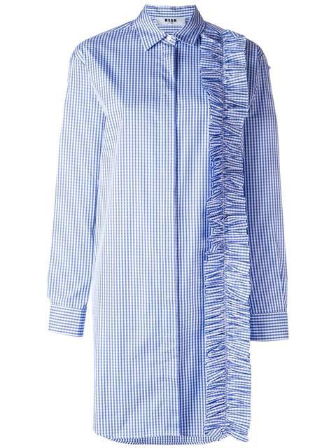 MSGM платье-рубашка с оборками