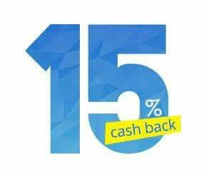 Get 15% Cashback on your Loyalty card.