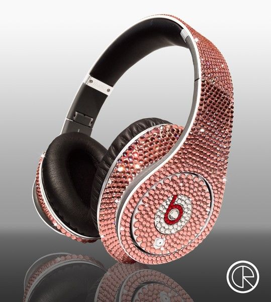 I should rock these at work. :-) - Dr Dre Beats - Studio Headphones Swarovski Winter Edition