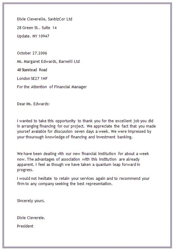 example application letter block format spacing full style business letterreport template