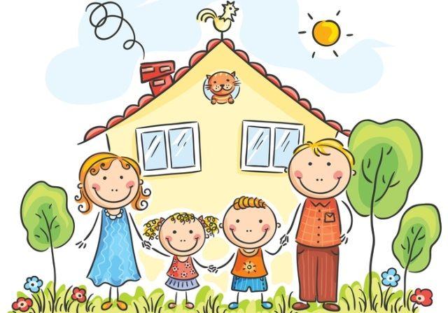 "Картинки для детей ""моя семья"" 👶 (33 картинки) ⭐ Наслаждайтесь юмором!    Family drawing, Family cartoon, Drawing for kids"