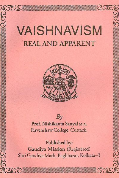 Buy now online books on vaishnavism real and apparent available in India