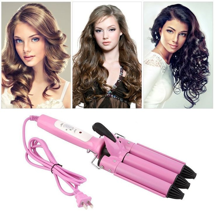 High Quality Professional 110-220V Hair Curling Iron Ceramic Triple Barrel Hair Curler Hair Waver Styling Tools Hair Style